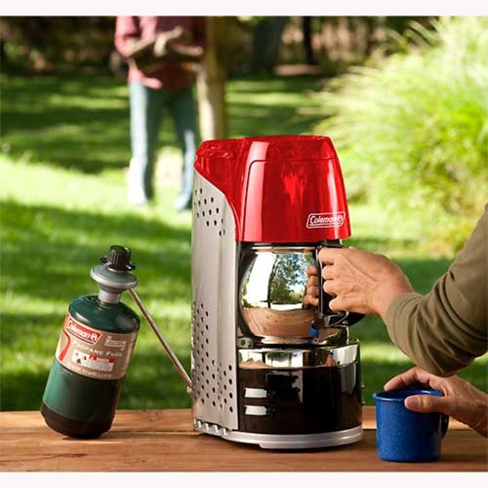 Coleman Camping Coffee Maker How Does It Work : Coleman lights up your campfire with the Portable Propane Coffeemaker New Gizmo Blog
