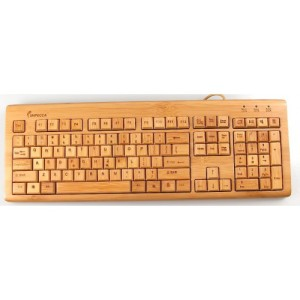 Impecca Bamboo Keyboard & Mouse 1