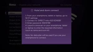 Roku OS7 Hotel & Dorm Connect